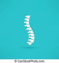 rygg, symbol, design, diagnostik