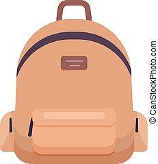 ryggsäck, vektor, illustration, ikon