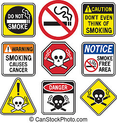 rygning, hazard, tegn