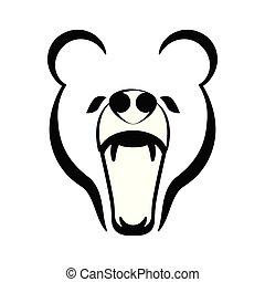 ryk, szkic, niedźwiedź