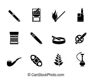 rykande cigarrett, ikonen
