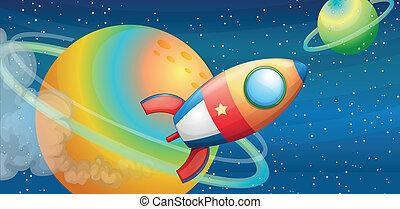 rymdfarkost, yttre rymden