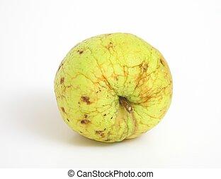rynkig, äpple