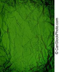 rynkig, grön, papper
