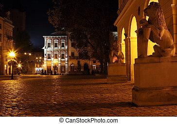 Rynok square in Lviv