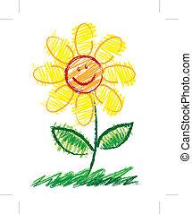 rys, kwiat