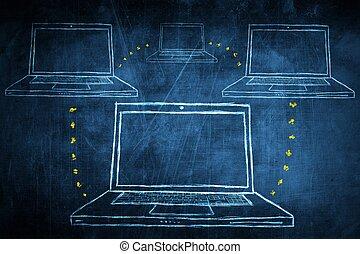 rys, pojęcie, sieć, współposiadanie, chalkboard