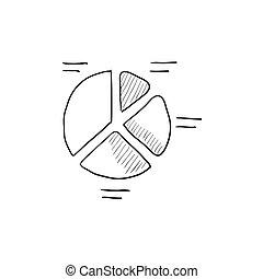 rys, sroka, icon., wykres
