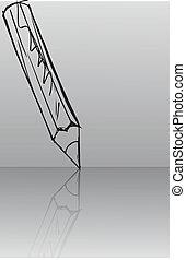rys, wektor, pencils., ilustracja