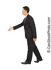 ryse, forretningsmænd, hånd