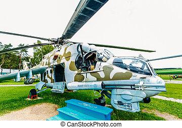 rysk, sovjetmedborgare, universal, transport, helikopter, mi-24