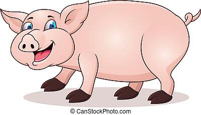 rysunek, świnia