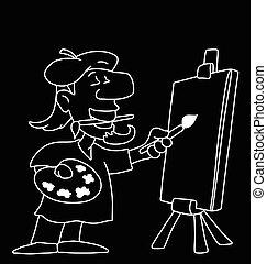 rysunek, artysta