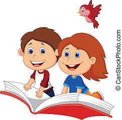 rysunek, chłopieć i dziewczyna, przelotny, na, niejaki, bo