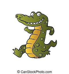 rysunek, crocodile.