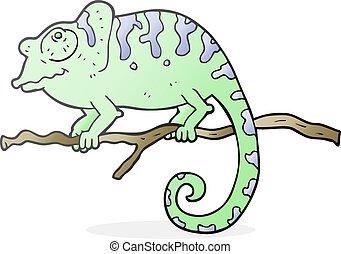 rysunek, kameleon