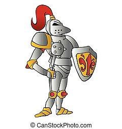 rysunek, knight.