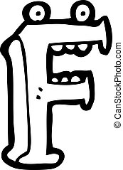 rysunek, litera f