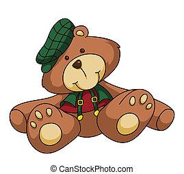 rysunek, Niedźwiedź,  Teddy