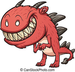 rysunek, potwór