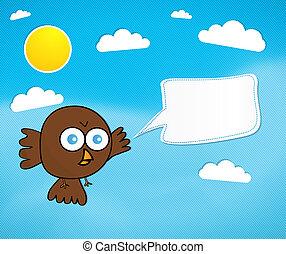 rysunek, ptak