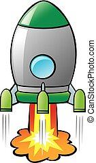 rysunek, rakieta