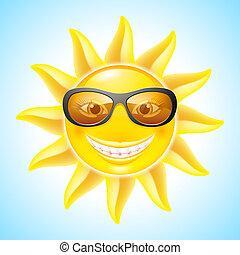 rysunek, słońce