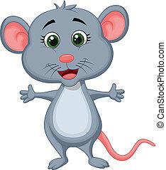 rysunek, sprytny, mysz
