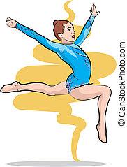 rytmiczna gimnastyka, piłka, -