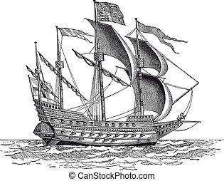 rytownictwo, rocznik wina, statek, wojna, brytyjski