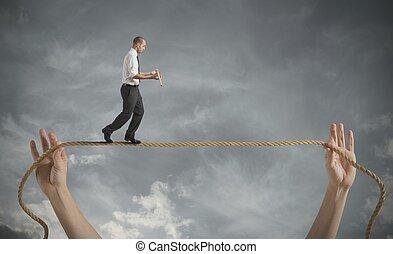 ryzyka, i, wyzwania, od, handlowe życie