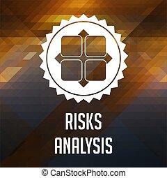 ryzyko, analiza, pojęcie, na, trójkąt, tło.