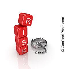 ryzyko, concept.
