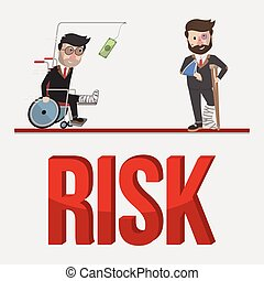 ryzyko, handlowe pojęcie, ilustracja