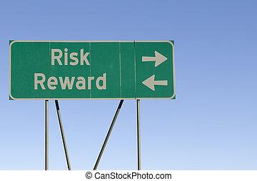 ryzyko, i, nagroda, droga znaczą