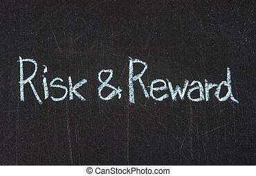 ryzyko, i, nagroda, na, tablica