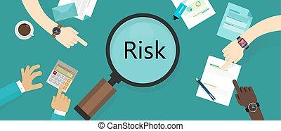 ryzyko, kierownictwo, cenny nabytek, słaby punkt, oszacowanie, pojęcie