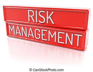 ryzyko, kierownictwo, -, odizolowany, 3d, render