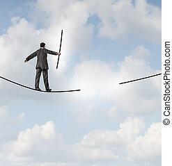 ryzyko, kierownictwo, rozłączenia