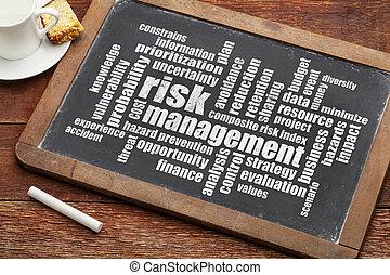 ryzyko, kierownictwo, słowo, chmura