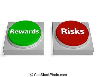 ryzyko, nagroda, pikolak, widać, ryzyka, albo, nagrody