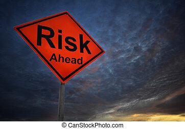 ryzyko, ostrzeżenie, droga znaczą