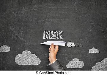 ryzyko, pojęcie, na, tablica, z, papier płaski