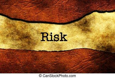 ryzyko, pojęcie