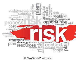 ryzyko, słowo, chmura