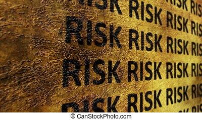 ryzyko, tekst, na, grunge, tło