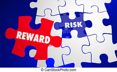 ryzyko, vs, nagroda, roi, powrót, lokata, zagadka, 3d, ilustracja