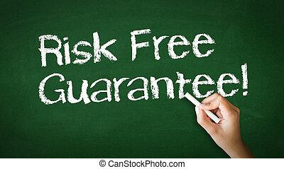 ryzyko, wolny, gwarantować, kreda, ilustracja