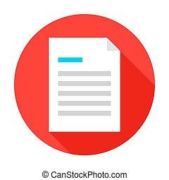 rząd, dokument, płaski, koło, ikona