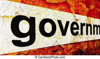 rząd, grunge, pojęcie